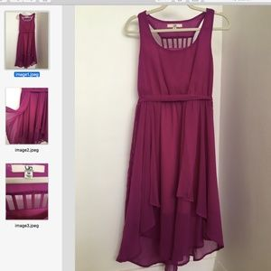 ModCloth 'Ya' High-Low Raspberry Dress SZ M
